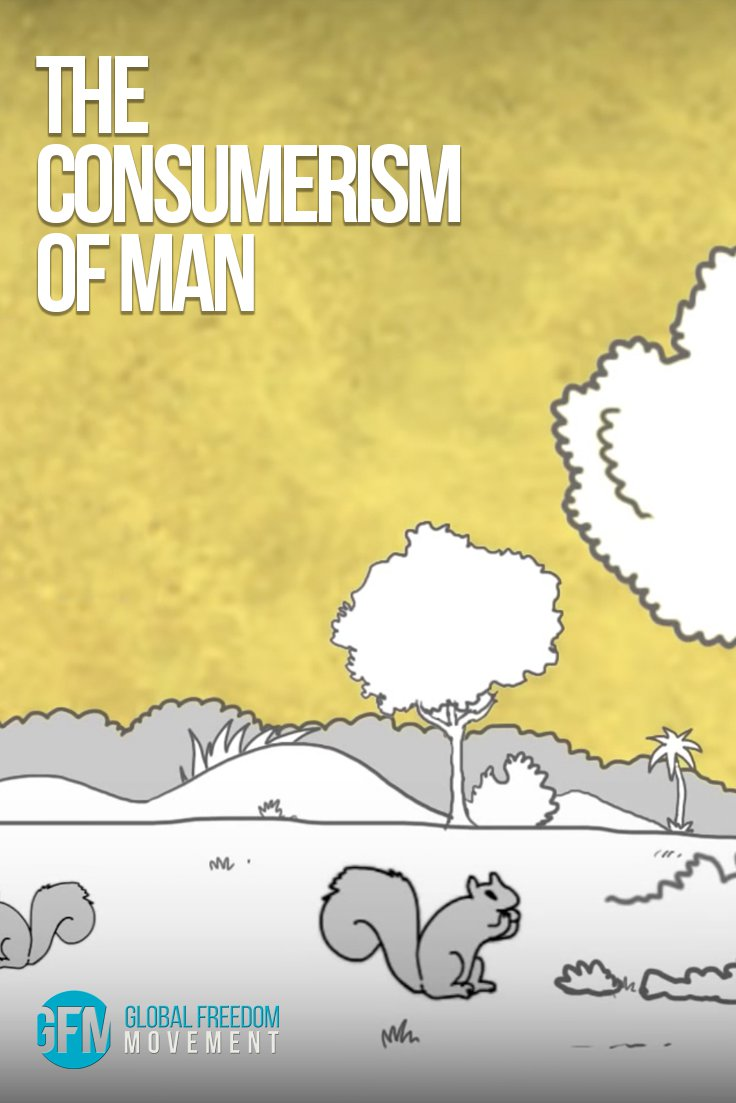 The Consumerism Of Man | An animation by Steve Cutts | Global Freedom Movement