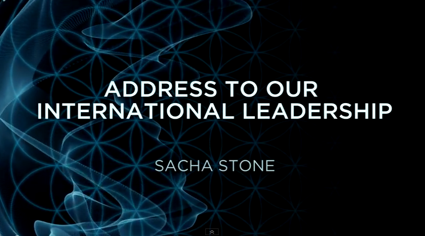 Sacha Stone's Address To Our International Leaders