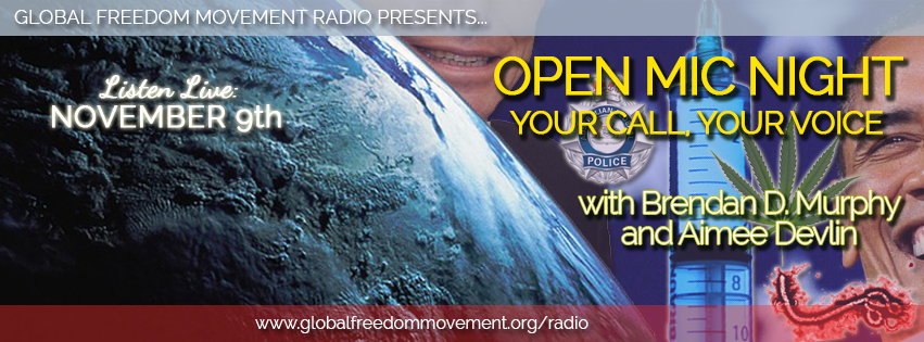 global freedom movement radio live open mic night australia news