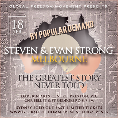 steven and evan strong melbourne global freedom movement original people ancient history