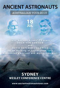 Ancient-Astronauts-Sydney Erich von daniken australia global freedom movement ancient aliens
