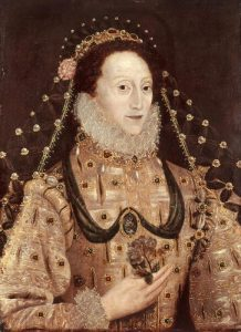 queen elizabeth portrait serpent painting