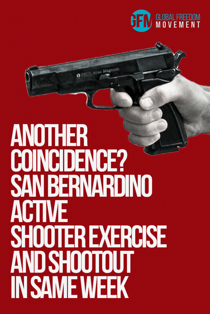 Another Coincidence? San Bernardino Active Shooter Exercise and Shootout In Same Week