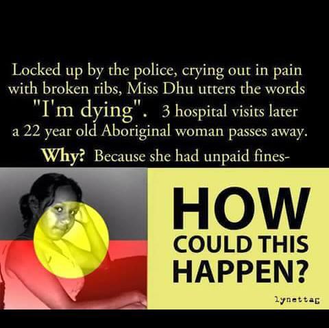 unpaid fine aboriginal woman