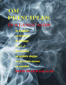 OM PRINCIPLES IN 8 LANGUAGES methods of depopulation kevin galalae interview global freedom movement