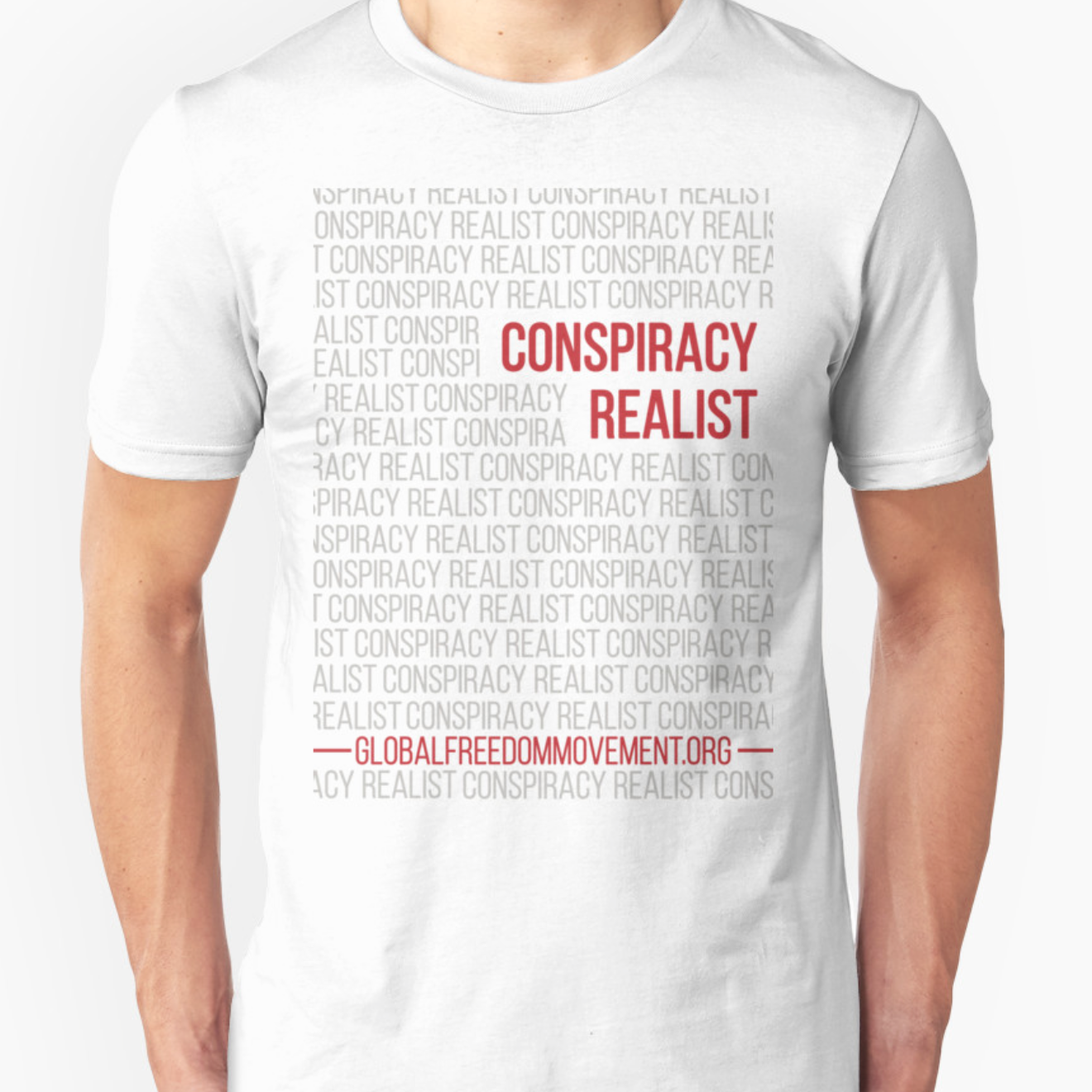conspiracy realist t-shirt design