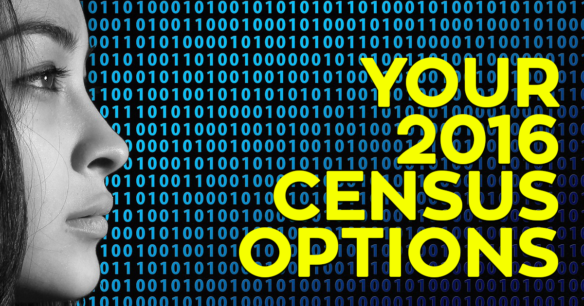 Your 2016 Census Options