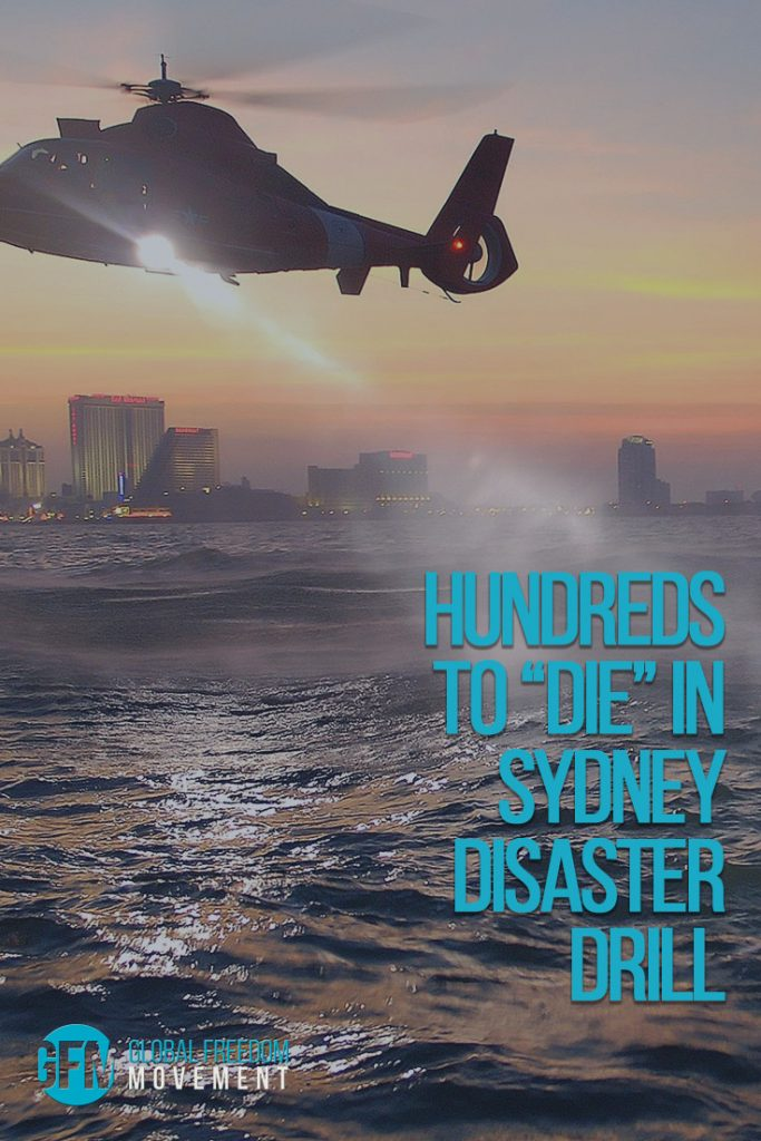 hundreds to die in sydney disaster drill