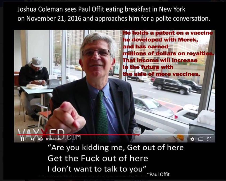 Paul Offit Refuses Interview